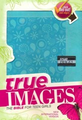 NIV True Images: The Bible for Teen Girls, Italian Duo-Tone, Blue - Slightly Imperfect