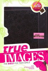 NIV True Images: The Bible for Teen Girls, Italian Duo-Tone, Brown