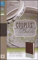 NIV Couples' Devotional Bible, Italian Duo-Tone, Chocolate/Silver - Slightly Imperfect