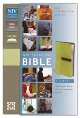 NIV Compact Thinline Bible, Melon/Chocolate Duo-Tone
