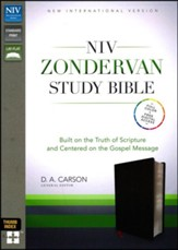 NIV Zondervan Study Bible--bonded leather, black (indexed)