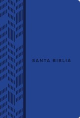 NTV Santa Biblia, Edicion compacta, NTV Holy Bible, Compact Edition--soft leather-look, blue