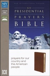 NIV Presidential Prayers Bible, Imitation Leather, Brown