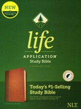 NLT Life Application Study Bible, Third Edition--soft leather-look, brown/tan (indexed)