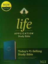 NLT Life Application Study Bible, Third Edition--soft leather-look, teal blue