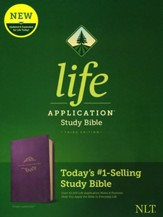 NLT Life Application Study Bible, Third Edition--soft leather-look, purple