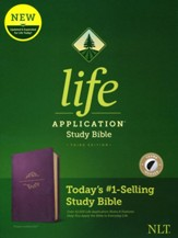 NLT Life Application Study Bible, Third Edition--soft leather-look, purple (indexed)