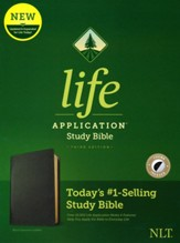 NLT Life Application Study Bible, Third Edition--genuine leather, black (indexed)