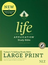 NLT Life Application Large-Print Study Bible, Third Edition--hardcover, indexed