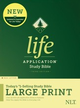 NLT Life Application Large-Print Study Bible, Third Edition--hardcover, red letter