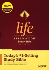 NIV Life Application Study Bible,  Third Edition--hardcover, red letter