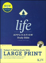 KJV Large-Print Life Application  Study Bible, Third Edition--hardcover (indexed)