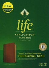 NLT Life Application Personal-Size Study Bible, Third Edition--soft leather-look, brown/tan (indexed)