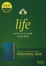 NLT Life Application Personal-Size Study Bible, Third Edition--soft leather-look, teal