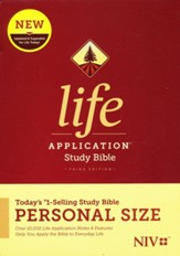 NIV Life Application Personal-Size Study Bible, Third Edition--hardcover