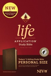 NIV Life Application Personal-Size Study Bible, Third Edition--soft leather-look, dark brown/brown