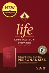 NIV Life Application Personal-Size Study Bible, Third Edition--soft leather-look, berry (indexed)