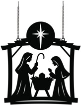 Nativity Scene, Metal Flag