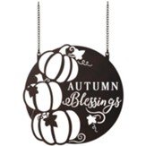 Autumn Blessings, Metal Garden Flag