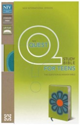 NIV Quest Study Bible for Teens: The Question and Answer Bible, Imitation Leather, Kiwi Caribbean Blue