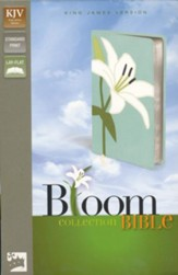 KJV Thinline Bloom Collection Bible, Italian Duo-Tone, White Lily - Slightly Imperfect