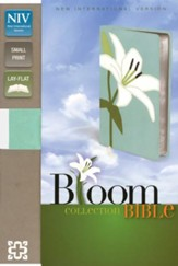 NIV Thinline Bloom Collection Bible, Compact, Italian Duo-Tone, White Lily