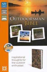 NIV Outdoorsman Bible, Imitation Leather, Camouflage