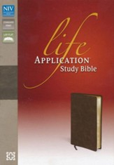 NIV Life Application Study Bible, Bonded Leather, Distressed Brown