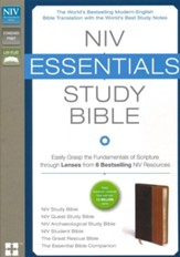 NIV Essentials Study Bible, Italian Duo-Tone, Chocolate/Tan
