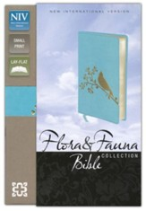 NIV Flora-Fauna Collection, Turquoise with Gold Foil Bird Design ,Compact