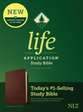NLT Life Application Study Bible, Third Edition--Value Edition, Burgundy Genuine Leather - Slightly Imperfect