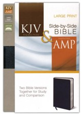 KJV and Amplified Side-by-Side Bible, Bonded Leather, Black, Large Print