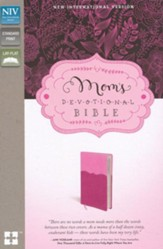 NIV Mom's Devotional Bible, Italian Duo-Tone, Pink/Hot Pink - Imperfectly Imprinted Bibles