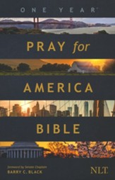 The NLT One Year Pray for America Bible, softcover