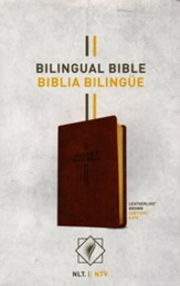 Biblia Bilingue NLT/NTV, Piel Imitada, Cafe  (NLT/NTV Bilingual Bible, LeatherLike, Brown)
