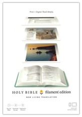 NLT Filament Bible--soft leather-look, teal