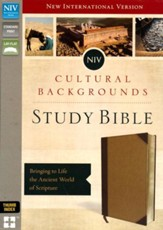 NIV Cultural Backgrounds Study Bible, Imitation Leather, Brown/Tan Indexed - Slightly Imperfect