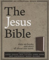 NIV, The Jesus Bible, Soft Leather-Look Brown  - Imperfectly Imprinted Bibles