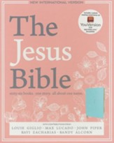 NIV, The Jesus Bible, Soft-Leather-Look Robin's Egg Blue  - Imperfectly Imprinted Bibles