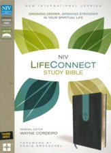 NIV LifeConnect Study Bible Gray/Blue Imitation Leather - Slightly Imperfect