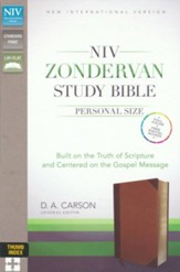 NIV Zondervan Study Bible, Personal Size, Imitation Leather Brown/Tan, Indexed