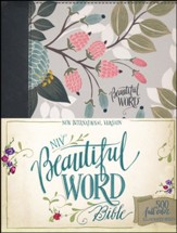 NIV Beautiful Word Bible--clothbound hardcover, multicolor floral - Slightly Imperfect