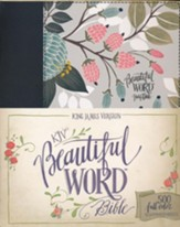 KJV Beautiful Word Bible--clothbound hardcover, multicolor floral - Slightly Imperfect
