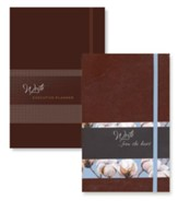 2019 Write Executive Planner & Write...from the Heart Journal,  2-Pack, Nutmeg