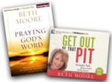 Get Out of That Pit/Praying God's Word: unabridged  audiobooks on CD - 2 Pack