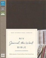 NIV Journal the Word Bible--soft leather-look, brown - Imperfectly Imprinted Bibles