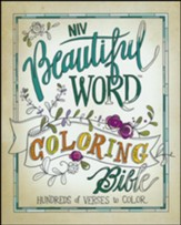 NIV Beautiful Word Coloring Bible, Hardcover  - Slightly Imperfect