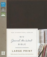 NIV Journal the Word Bible, Large Print, Imitation Leather, Brown - Imperfectly Imprinted Bibles