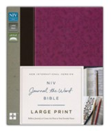 NIV Journal the Word Bible, Large Print, Imitation Leather, Pink/Brown - Slightly Imperfect