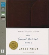 NIV Journal the Word Bible, Large Print, Genuine Leather, Brown - Slightly Imperfect